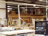 Industrial-grade woodworking equipment and custom stain and finish.