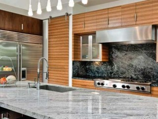 Contemporary kitchen, fine craftsmanship.