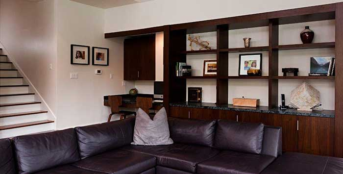 Living Room Built In Shelving Contemporary