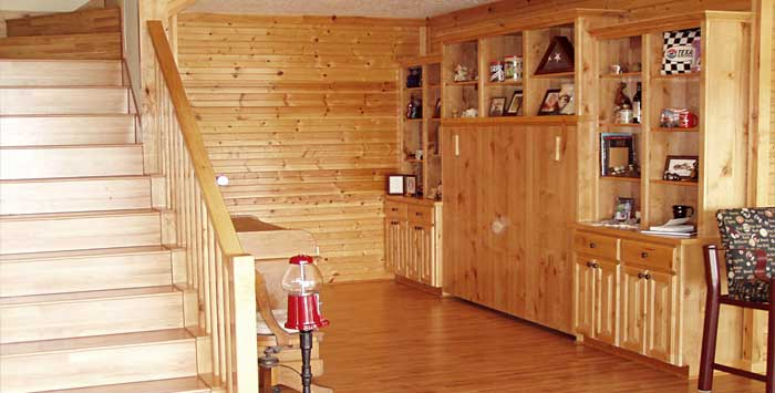 Activity room, guest room refinish.